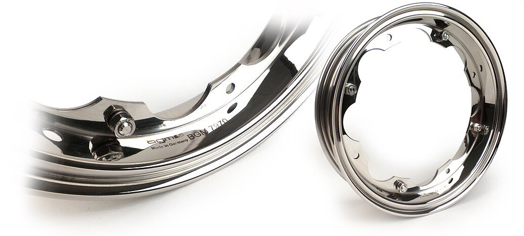 Wheel rim -BGM PRO- Lambretta LI Series 1-3, LI S, SX, TV Series 2-3 – stainless steel polished