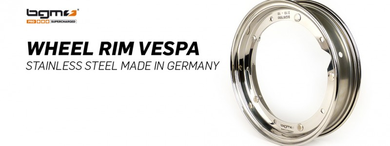 wheel rim vespa stainless steel