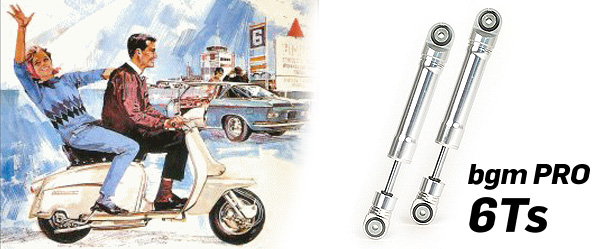 Shock absorber front -BGM PRO 6Ts- Lambretta LI, LIS, SX, TV (Series 2-3), DL, GP - silver