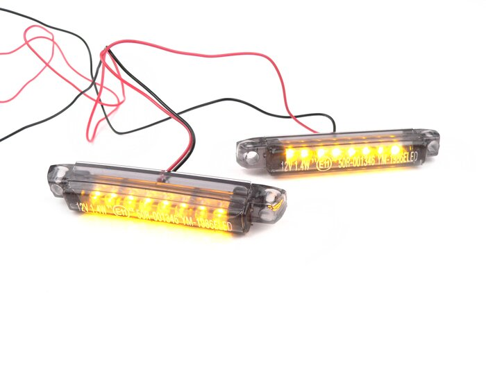 7673425-Indicator set -BGM STYLE Micro 2x8 LED- universal - black (2 pcs)