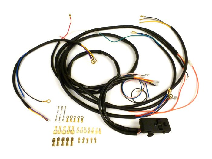 9077011s wiring loom set incl light switch bgm pro vespa ac rh bgm tuning com vespa vbb light switch wiring 2-Way Light Switch Wiring