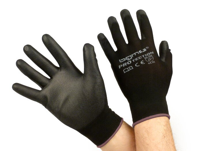 BGM0400L-Workshop gloves -BGM PRO-tection- fine knitted glove 100% Nylon with Polyurethan coating - size L (9)