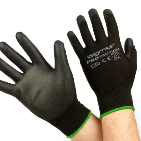 BGM0400M-Workshop gloves -BGM PRO-tection- fine knitted glove 100% Nylon with Polyurethan coating - size M (8)