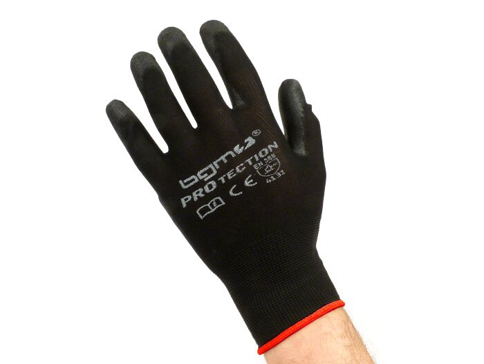 BGM0400S-Workshop gloves -BGM PRO-tection- fine knitted glove 100% Nylon with Polyurethan coating - size S (7)