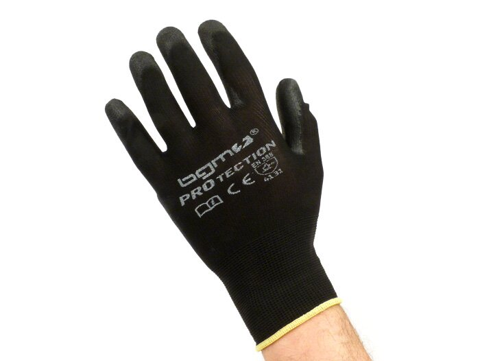 BGM0400XL-Workshop gloves -BGM PRO-tection- fine knitted glove 100% Nylon with Polyurethan coating - size XL (10)