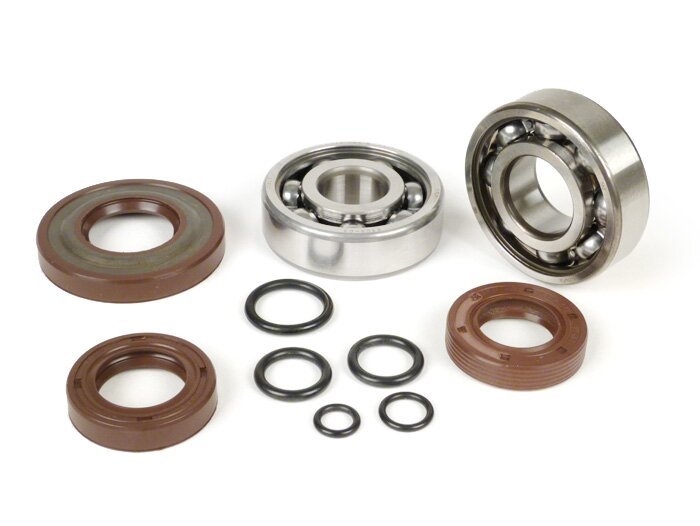 BGM1107-Bearing and oil seal set for crankshaft -BGM ORIGINAL- Vespa V50