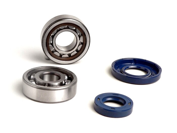 BGM1114-Bearing and oil seal set for crankshaft -BGM ORIGINAL- Vespa V50