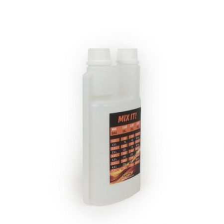 BGM2005-Oil jug - squeeze bottle -BGM PRO 500ml- with dosing chamber (25ml)  and two lids