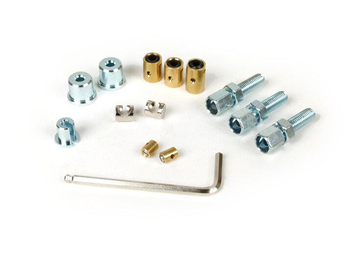 BGM6465-Adjuster screw and trunnion set -BGM PRO- Lambretta LI