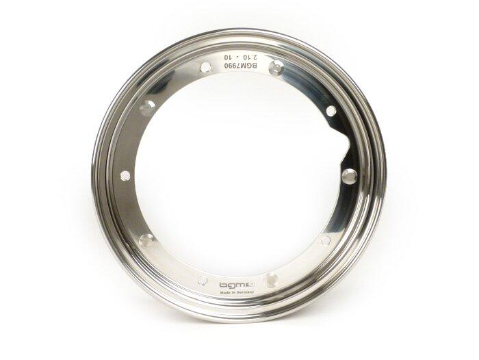 BGM7990-Wheel rim -BGM PRO 2.10-10''- Vespa (type PX) - stainless steel