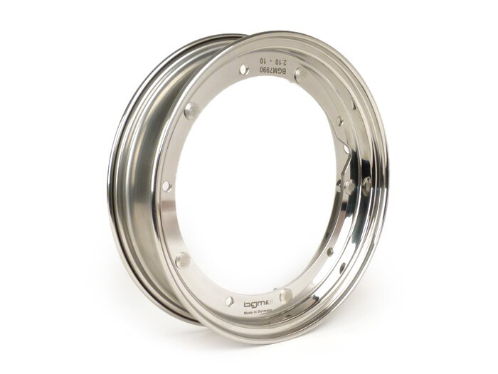 BGM7990-Wheel rim -BGM PRO 2.10-10''- Vespa (type PX) - stainless steel