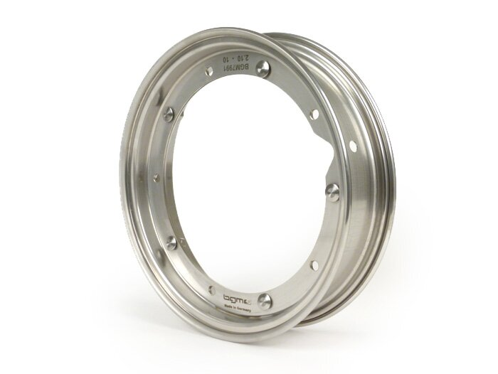 BGM7991-Wheel rim -BGM PRO 2.10-10''- Vespa (type PX) - stainless steel