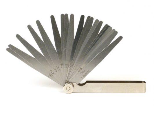 1800013 Fühlerlehre -UNIVERSAL- 20 Blatt, Metall – 0.05-1.00mm + 0.002-0.040 inch