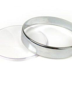 3331716 Tachoglas-Set -BGM ORIGINAL- Vespa Ø=105mm – Vespa PX Lusso (1984-), PK XL1, GT 250 i.e. 60 (ZAPM451), GTV 125 (ZAPM313), GTV 250 (ZAPM451), GTV 300 (ZAPM452) – verchromter Ring – klares Glas