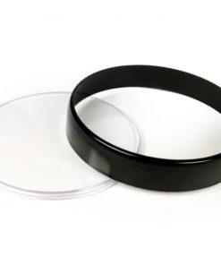 3331718 Jeu de verres de compteur -BGM ORIGINAL- Vespa Ø = 105mm - Vespa PX Lusso (1984-), PK XL1, GT 250 ie 60 (ZAPM451), GTV 125 (ZAPM313), GTV 250 (ZAPM451), GTV 300 (ZAPM452) - anneau noir - verre clair