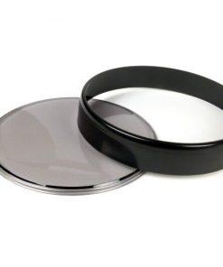 3331719 Tachoglas-Set -BGM ORIGINAL- Vespa Ø=105mm – Vespa PX Lusso (1984-), PK XL1, GT 250 i.e. 60 (ZAPM451), GTV 125 (ZAPM313), GTV 250 (ZAPM451), GTV 300 (ZAPM452) – schwarzer Ring – getöntes Glas