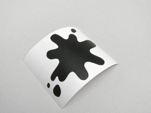 8050045 Aufkleber -LAMBRETTA Tintenklecks- DL, GP – Schwarz matt