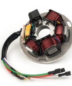 9021011 Zündung -BGM ORIGINAL Grundplatte- Vespa PX alt (mit Batterie 1982-1984) – 7 Kabel