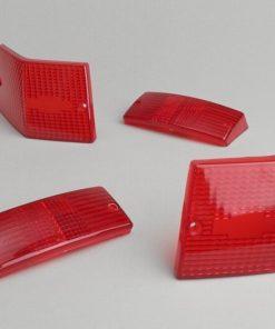 9520169 Blinkergläser -BGM ORIGINAL 4er Set- Vespa PX80, PX125, PX150, PX200, T5 125cc – Rot