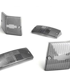 9520171 Blinkergläser -BGM ORIGINAL 4er Set- Vespa PX80, PX125, PX150, PX200, T5 125cc – Schwarz
