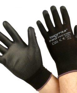 BGM0400L Arbeitshandschuhe – Mechaniker Handschuhe – Schutzhandschuhe -BGM PRO-tection- Feinstrickhandschuh 100% Nylon mit Polyurethan Beschichtung – Grösse L (9)