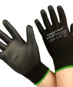 BGM0400M Arbeitshandschuhe – Mechaniker Handschuhe – Schutzhandschuhe -BGM PRO-tection- Feinstrickhandschuh 100% Nylon mit Polyurethan Beschichtung – Grösse M (8)