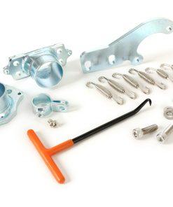 BGM2105FKT Auspuffflansch-Kit inkl. Halterung, Federn und Spannhaken -BGM PRO Clubman V2-V3-V4- Lambretta Serie 1-3 – Typ Grauguss und TS1