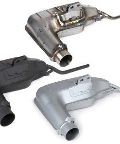 BGM2105S4BX Auspuffkorpus -BGM PRO Clubman V4.0- Lambretta Serie 1-3 – silber