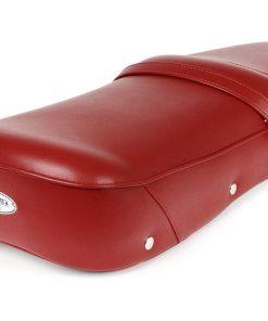 BGM2701RD Sitzbank -BGM PRO Pegasus mit Schild und genietet- Lambretta LI, LI S, SX, TV, DL, GP – rot