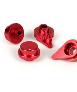 BGM460ADJ Einstellhebel-Set für Bremshebel-Set -BGM PRO Sport, einstellbar + klappbar- Vespa GT, GTL, GTS 125-300 (Hengtong Bremsanlage) – rot eloxiert