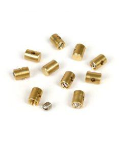 BGM6491X Mamelon de serrage / mamelon à vis -BGM ORIGINAL- Ø = 5.5 mm x 7 mm (utilisé pour câble d'accélérateur) - 10 pièces