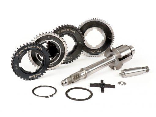 BGM6935AK Getriebe (Gangräder inkl. Hauptwelle) -BGM PRO- Vespa PX alt (-1984) – PX125 (VNX1T 146314 -> VNX2T 232052), PX150 (VLX1T 264565-624601), PX200 (VSX1T -> 315266), Rally180 (VSD1T), Rally200 (VSE1T)…