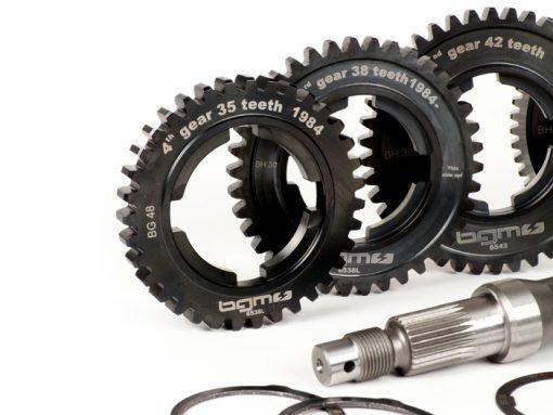 BGM6935LK Getriebe (Gangräder inkl. Hauptwelle) -BGM PRO- Vespa PX Lusso, Disc, My, 2011 (1984-) – PX125 (VNX2T 232053 ->, ZAPM), PX150 (VLX1T 624602 ->, ZAPM), PX200 (VSX1T 315267 ->), Cosa, T5 125ccm, LML …