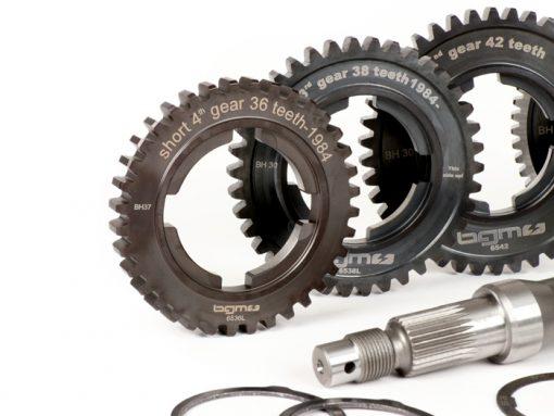 BGM6936LK Getriebe (Gangräder inkl. Hauptwelle) -BGM PRO- Vespa PX Lusso, Disc, My, 2011 (1984-) – PX125 (VNX2T 232053 ->, ZAPM), PX150 (VLX1T 624602 ->, ZAPM), PX200 (VSX1T 315267 ->), Cosa, T5 125ccm, LML …