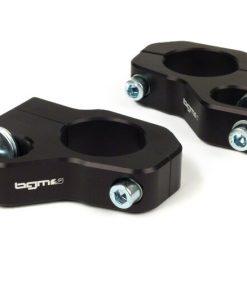 BGM7650N Stoßdämpferbefestigung oben -BGM PRO Clip on Aluminium CNC- Lambretta LI, LIS, SX, TV, DL, GP – schwarz