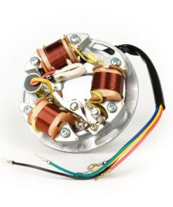 BGM8023 Zündung -BGM ORIGINAL Grundplatte (Kontaktzündung, 5 Kabel, 6V)- Vespa Sprint150 (VLB1T), TS125 (VNL3T), GT125 (VNL2T), GTR125 (VNL2T), Super, GL150 (VLA1T) – für Fahrzeuge ohne Blinker, ohne Batterie