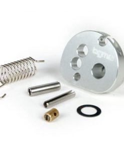 Poulie d'accélérateur BGM2291 -BGM Pro fabriquée par JPP, QUICK ACTION, aluminium CNC- Lambretta LI, LIS, SX, TV (séries 2-3), DL, GP - anodisé argent