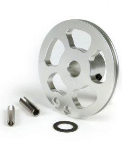 BGM2292 Schaltzugrolle -BGM Pro made by JPP, QUICK ACTION, Aluminium CNC- Lambretta LI (Serie 3 ab Bj. 1966), LIS (ab Bj. 1966), SX, DL, GP – silber eloxiert
