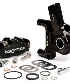 BGM2506KTLB Bremszange vorne inkl. Bremszangenaufnahme -BGM PRO, CNC Touring, 4-Kolben, radiale Befestigung – Bremstrommel Typ LML- LML, Stella, Star – schwarz
