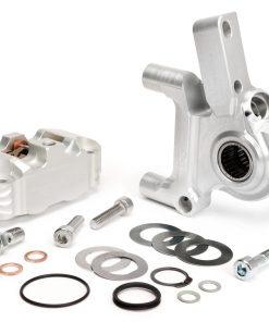 BGM2506KTLS Bremszange vorne inkl. Bremszangenaufnahme -BGM PRO, CNC Touring, 4-Kolben, radiale Befestigung – Bremstrommel Typ LML- LML, Stella, Star – silbern