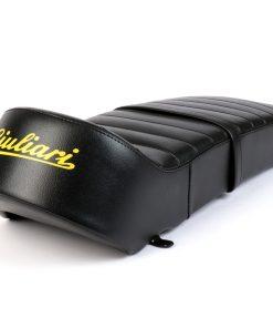 BGM2705 Sitzbank -BGM PRO Giuliari 7Ts Cutback Lambretta (Serie 1-3) schwarz – gelber Schriftzug
