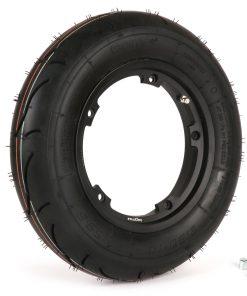 BGM35010SLKB Reifen komplett Set -BGM Sport, schlauchlos, Vespa- 3.50 – 10 Zoll TL 59S (reinforced) – Felge 2.10-10 schwarz