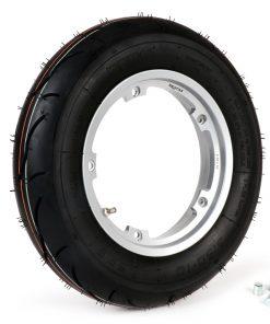 BGM35010SLKG Reifen komplett Set -BGM Sport, schlauchlos, Vespa- 3.50 – 10 Zoll TL 59S (reinforced) – Felge 2.10-10 – Silbern