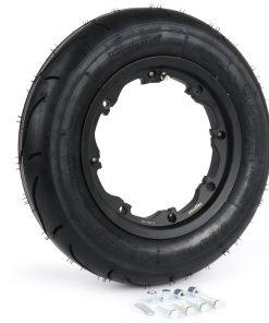 BGM35010SLKLB Reifen komplett Set -BGM Sport, schlauchlos, Lambretta- 3.50 – 10 Zoll TL 59S (reinforced) – Felge 2.10-10 schwarz