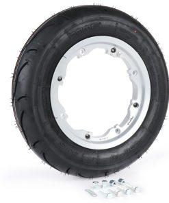 BGM35010SLKLG Reifen komplett Set -BGM Sport, schlauchlos, Lambretta- 3.50 – 10 Zoll TL 59S (reinforced) – Felge 2.10-10 – silbern