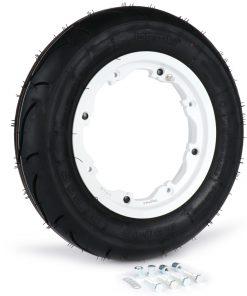 BGM35010SLKLW Reifen komplett Set -BGM Sport, schlauchlos, Lambretta- 3.50 – 10 Zoll TL 59S (reinforced) – Felge 2.10-10 weiß