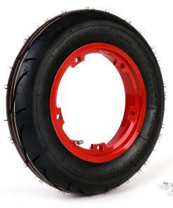 BGM35010SLKR Reifen komplett Set -BGM Sport, schlauchlos, Vespa- 3.50 – 10 Zoll TL 59S (reinforced) – Felge 2.10-10 rot