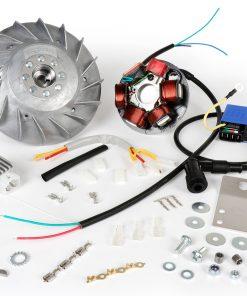 BGM666PV Zündung-Set -BGM PRO 12V Touring- Vespa Smallframe V50, 50N, V90, PV, ET3, PK S – 1600g – verwendet zur Umrüstung auf elektronische Zündung
